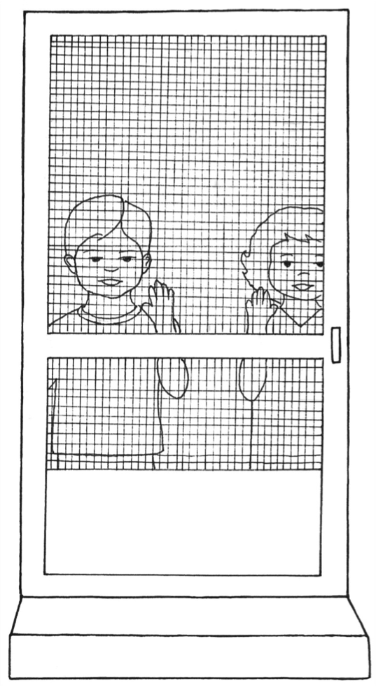 Screen Door w Boy & Girl